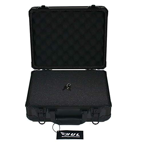 HUL 13in Aluminum Case with Customizable Pluck Foam Interior for Test Instruments Cameras Tools Parts and Accessories