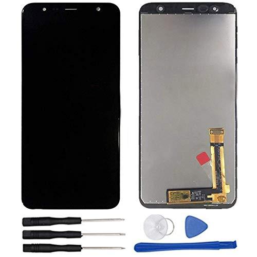soliocial Asamblea Pantalla LCD Pantalla Táctil Vidrio para Galaxy J4+ 2018 / Galaxy J4 Plus 2018 SM-J415 J415G J415GN J415F J415FN/DS 6.0 Inch Negro
