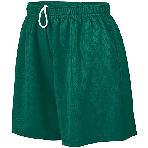 Augusta Sportswear Teen-Girls Wicking Mesh Short, Dark Green, Large