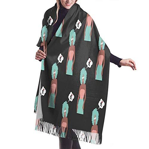 Vcxbsdvbd al horno con Lovefashion cachemira gran chal invierno grueso cálido bufanda abrigo chal 77 pulgadas x 27