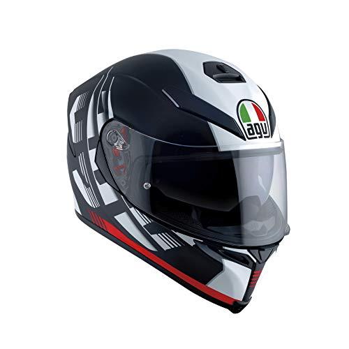 AGV Casco Moto Integrale K-5 S E2205 Multi Plk, Darkstorm Nero Matt/Rosso, Taglia MS