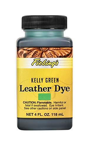 Fiebing's Leather Dye - Alcohol Based Permanent Leather Dye - 4 oz - Kelly Green