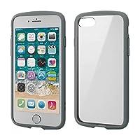 エレコム iPhone 8 / iPhone 7 ケース 耐衝撃×フレーム TOUGH SLIM LITE [背面クリアタイプ] グレー PM-A17MTSLFCGY