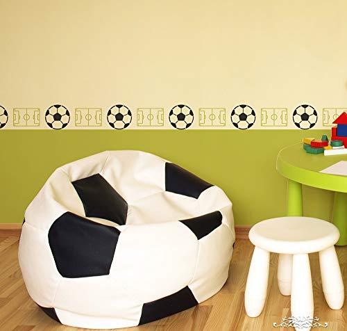 Stencil Cenefa Futbol plantilla decorativa reusable para pintar con efecto papel tapiz