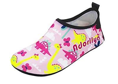 Adorllya Toddler Kids Water Shoes Swim shoe Aqua Socks for Boys Girls Toddlers Barefoot Soft for Pool beach