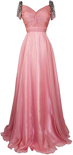 Meier Women's Beaded Short Sleeve Pleated Mother of Bride Evening Prom Dress M10 Coral 8