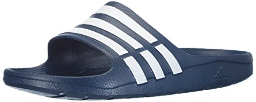 adidas Duramo Slide Chanclas Unisex adulto, Azul (New Navy/White/New Navy), 37 EU (4 UK)