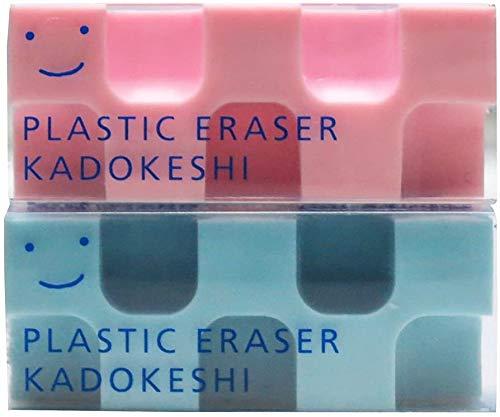コクヨ 消しゴム カドケシプチ 鉛筆用 ピンク・ブルー ケシ-U750-3 【× 7 パック 】