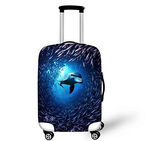 Patrón De Delfines Maletas Protectoras Maleta Resistente Al Desgaste Cubierta Antipolvo Funda De Equipaje De Viaje Se Adapta A Equipaje De Viaje De 26-28 Pulgadas L