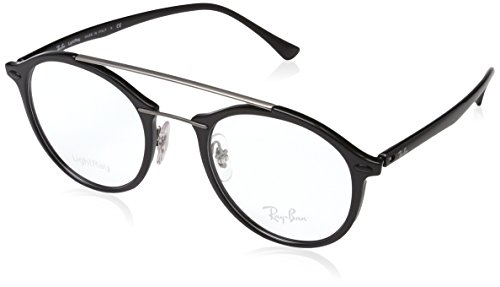 Ray-Ban 7111, Montature Donna, Nero (Black/Grey), 49