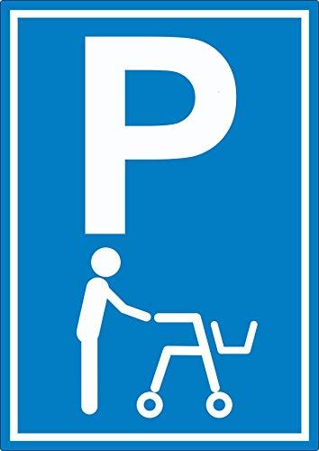 Rollator Parkplatz Aufkleber Gehwagen Gehhilfe A3 (297x420mm)