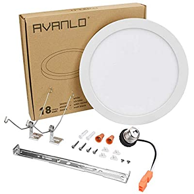 AVANLO 18/24W LED Ceiling Light Fixture, Round/Square Disk Light Dimmable 120V