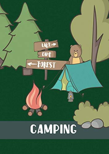 Camping: Grosses Reisetagebuch; A4, 8,27 x 11,69 inch (21 x 29,7cm) ; 120 cremefarbene Seiten; kreatives Design; Cover mit glänzender Veredelung
