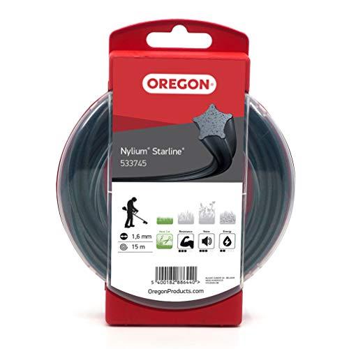 Oregon 533745 Nylium Mähfaden mit sternförmigem Querschnitt, 1,6 mm, 15 m