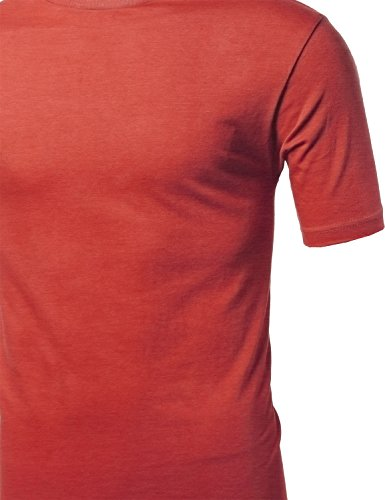Basic Solid Crewneck Men's Various Color Crew Neck Tee Olive Size S