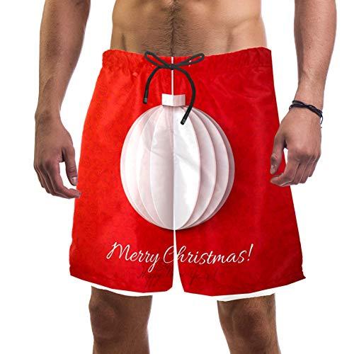 Anmarco Herren Badehose mit weihnachtlicher Laterne, Origami-Papier, schnelltrocknend, mit Tasche Gr. XL, mehrfarbig