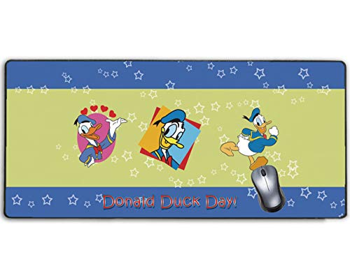Stitched Edge Large Gaming Mouse Pad Disney Donald Duck,No-sliped Mat Game Mousepad for Desktop Computer Keyboard and Laptop(27.5 inch x 12 inch)