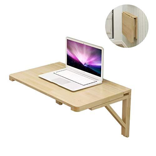 Aan de muur bevestigde vloer table Klaptafel Massief houten muur gemonteerde, gemakkelijk vouwen, ruimtebesparend, tafel om te dineren of op het werk laptop bureau (Size : 100x60cm)
