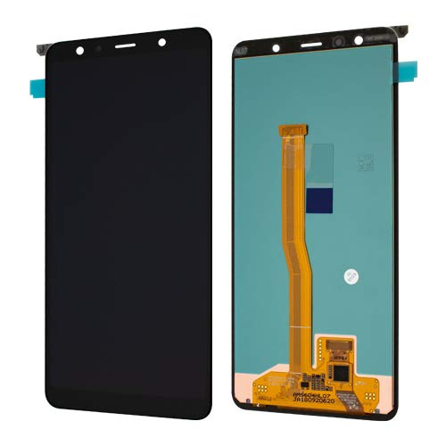 Samsung LCD Display A750F DS Galaxy A7 2018 Black Original - Assy OLED-6.0' FHD+ A750F Black WO LO AG