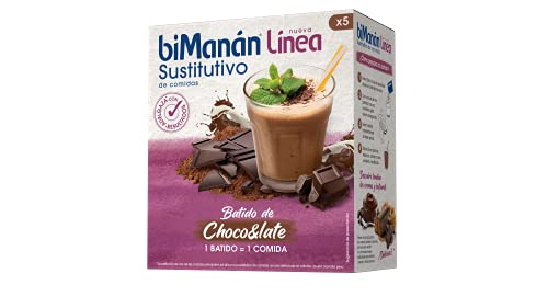 Bimanán Línea - Batido Sustitutivo Chocolate, 5 x 250 g