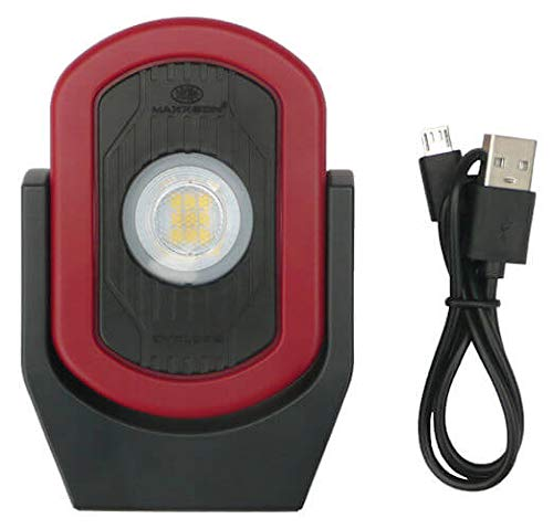 MAXXEON MXN00810 WorkStar Cyclops, USB-C Rechargeable LED Inspection Light, Red, (Pack of 1)