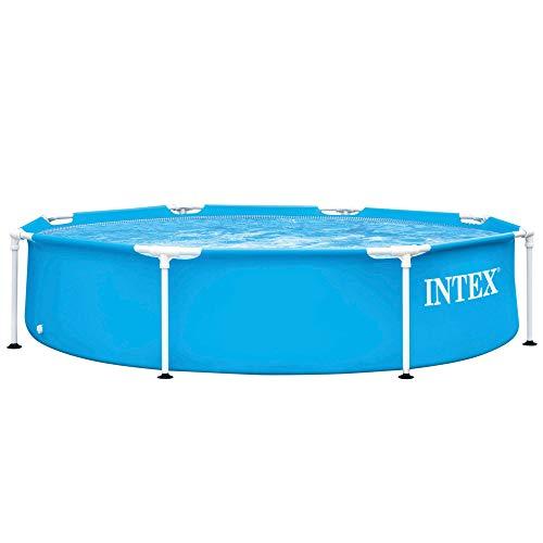 INTEX 55242 - Piscina desmontable redonda, piscina Metal Frame, medidas Ø244x51 cm, 1.828 litros, lona azul, piscinas tubulares, piscinas infantil, 55242