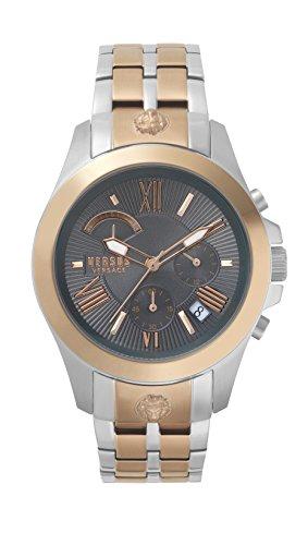 Versus Versace męski analogowy zegarek kwarcowy z bransoletką ze stali nierdzewnej VSPBH1518