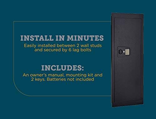 6. SnapSafe In-Wall Long Gun Safe - Secure Heavy Duty Flush Mount Gun Safe with Digital Keypad