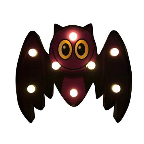 LED Halloween Dekoration Lichterkette Nachtlicht Zeichen Licht Dekor Schlafzimmer Wohnzimmer Garten Straße Dekoratives Licht Urlaub Beleuchtung (D)