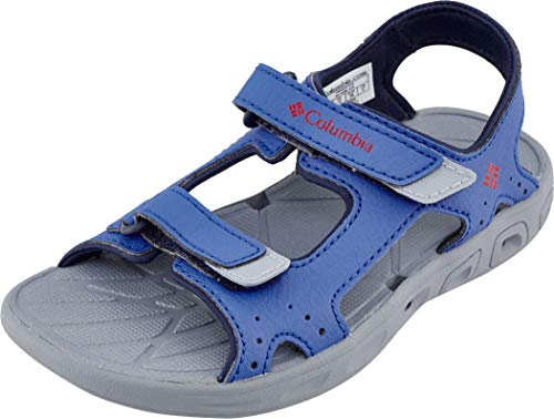 Columbia Childrens Techsun Vent, Sandalias, Blue (Stormy Blue, Mountain Red 426), 26 EU