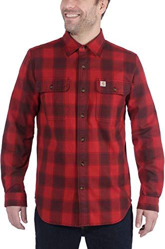 Carhartt Workwear Mens 104144-608-DARK Crimson-XL Shirt, Rot, X-Large