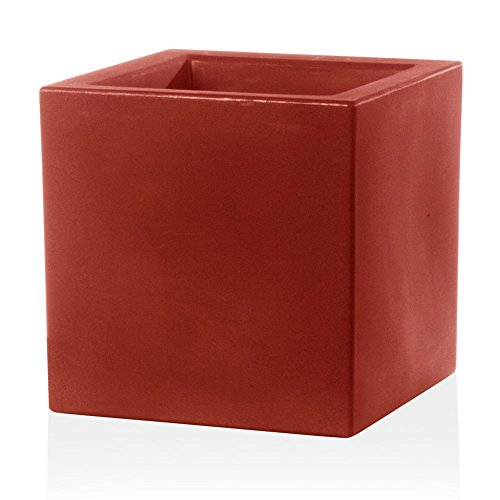 Pflanzkübel Blumenkübel CUBO 30 Kunststoff, 30x30x30 cm, rot matt