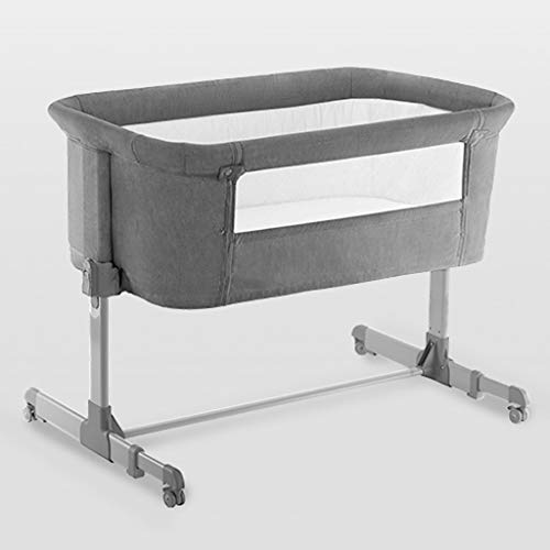 Buy Balance Bouncer Cradle Cribs Multifunction Cots Baby Bed Infant Travel Bed Sleeper Zippered Breathable Mesh Side Multifunctional Sleeping Basket Sleeping Artifact (Color : Gray)