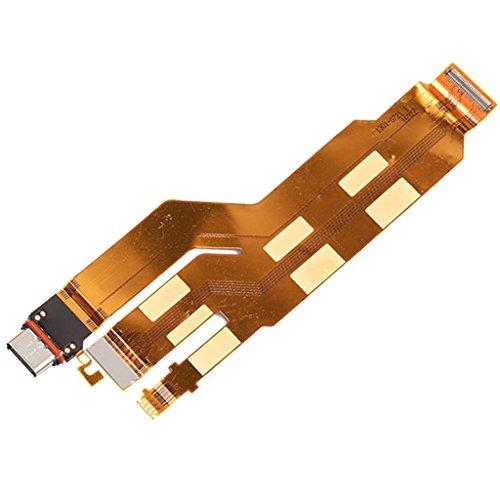 H HILABEE Repuesto Conexión de Puerto de Carga Flex Cables Pieza para Xperia XZ F8331 Dual F8332