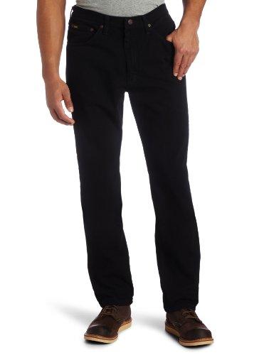 Lee Men's Big-Tall Regular Fit Straight Leg Jean, Double Black, 44W x 30L