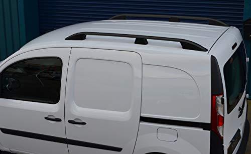 ALVM Parts & Accessories - Barras de aluminio para techo de coche, rieles de color negro para SWB Kangoo (2008+)