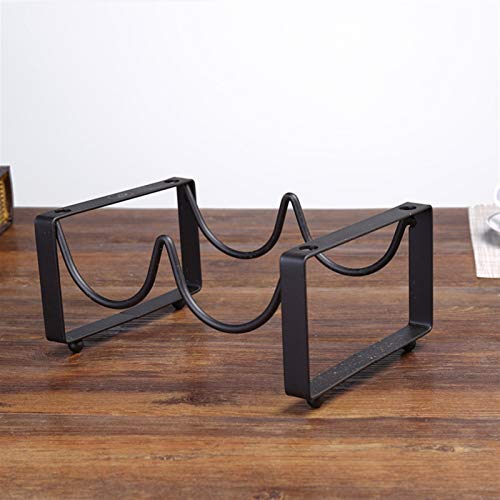 Estantes de vino de metal Barra creativa Estante de exhibición Plancha de hierro 2/3/4 Botellas Holder Mount Cocina Vino Whiskey Stand Organizer para amantes del vino (Color : 2 Bottles 1 Layer)