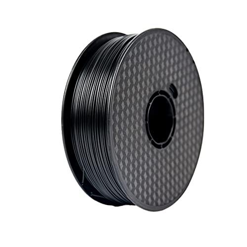 PLA 3D Printer Filament, PLA Filament 1.75mm, Dimensional Accuracy +/- 0.02 Mm, Vacuum Packaging,1 Kg Spool, Black black