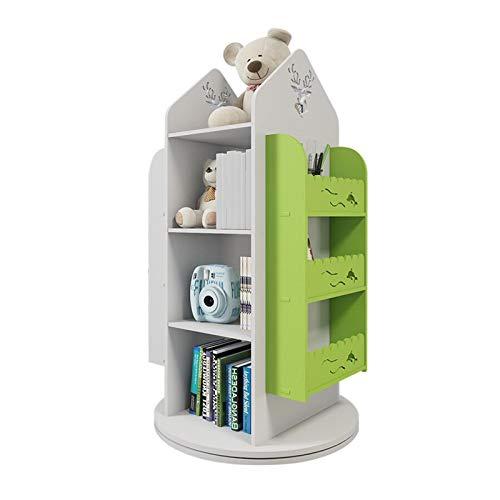 Bibliothèque Rotation Petite étagère de la Picture d'enfants Rack Simple Space ménage Simple Simple Étudiante Étudiante Creative FANJIANI (Color : Green)