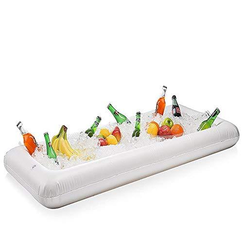 Camas de aire Piscina Flotador inflable con la cerveza Tabla colchón de aire cubo de hielo sirviendo ensalada sostenedor de la bebida barra de la bandeja de alimentos for la fiesta del agua de verano
