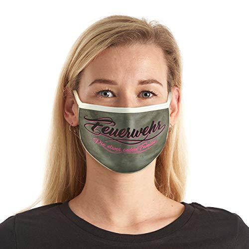FIRE & FIGHT Streetwear Design-Mund-Nasen-Maske Feuerwehr Familie Textil-Accessoire Farbe pink
