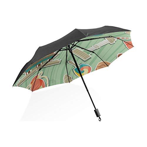 Umbrella Decor Fashion Kimchi Korean Chinakohl Tragbare Kompakte Taschenschirm Anti Uv Schutz Winddicht Outdoor Reise Frauen Kind Regenschirm