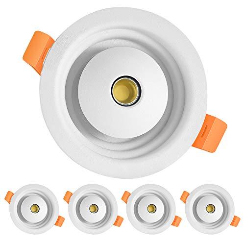 HOOBAY Juego de 4 focos LED empotrables de techo, 8 W, 680 lm, planos, redondos, 3000 K, 4500 K, 6500 K, para cocina, salón, pasillo