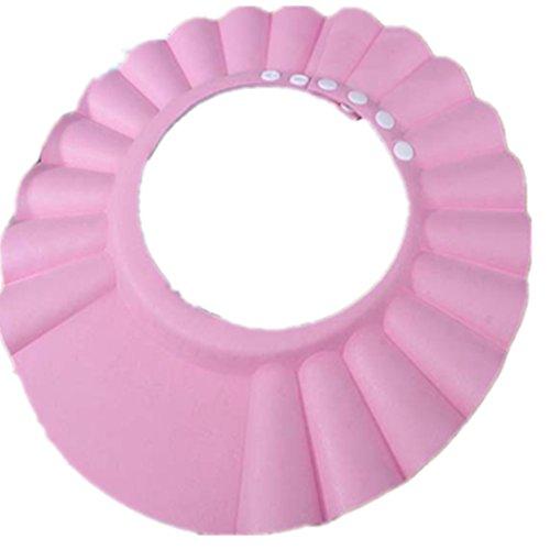 OYSOHE Baby Kinder Neueste Safe Shampoo Dusche Baden Bad schützen weiche Kappe Hut für Baby Kinder (Einheitsgröße, Rosa)