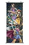 CoolChange Poster para enrollar | Kakemono de Dragon Quest Hecho de paño | 100x40cm | Tema: Héroes