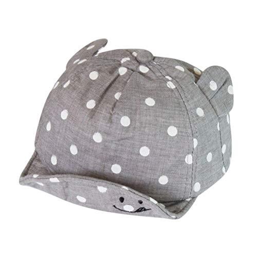 MeiLiu baby paraplu, voorjaars-zomer-basballmuts, schattige potten hoed met oren en glimlach