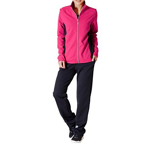 Schneider Sportswear Damen Anzug Elly, Cranberry/Dunkelblau, 24