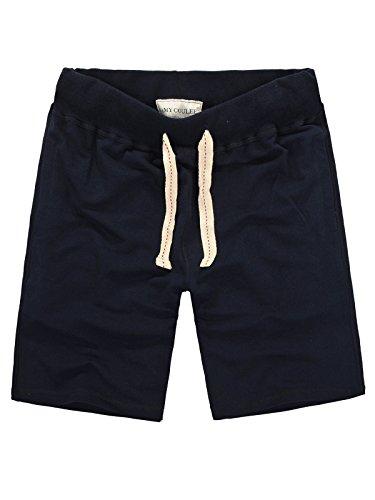 Amy Coulee Men's Cotton Pocket Short Lounge Shorts (L, Navy)