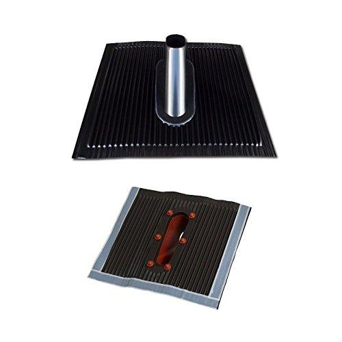 Aluminium Dachabdeckung Alu Dachziegel schwarz Dach Montage Abdeckung Ziegel Dachpfanne für Sat Dachsparrenhalter Universal Dach Pfanne