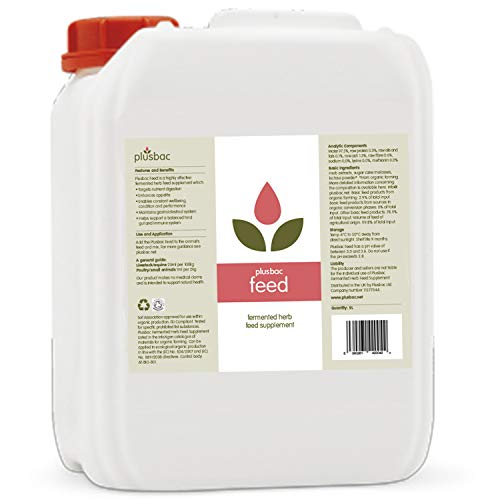 Plusbac Feed - Equine, other animals 25 Litre Probiotic - Fermented Herb Feed Supplement